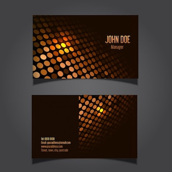Business cards with gold dots