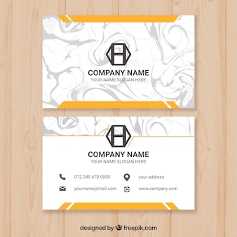 Business cards with marble texture