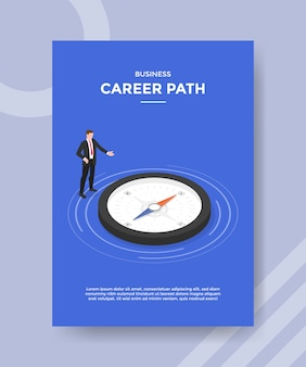 Business career path flyer template
