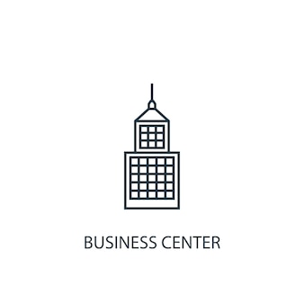 Business center concept line icon. simple element illustration. business center concept outline symbol design. can be used for web and mobile ui/ux