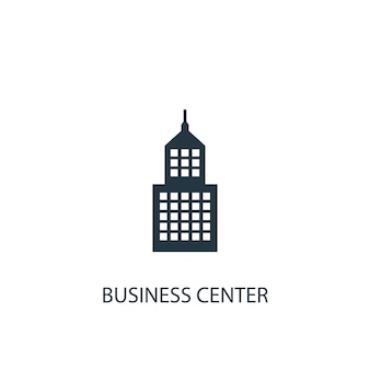 Business center icon. simple element illustration. business center concept symbol design. can be used for web and mobile.