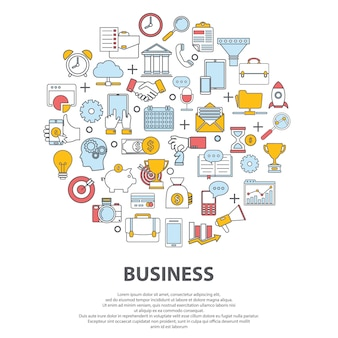 Business centre vector concept. for web site, print design, business card