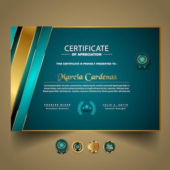 Business certificate template new design