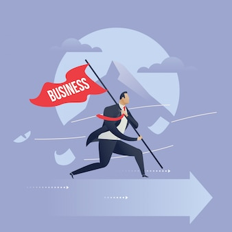 Business challenges to success illustration