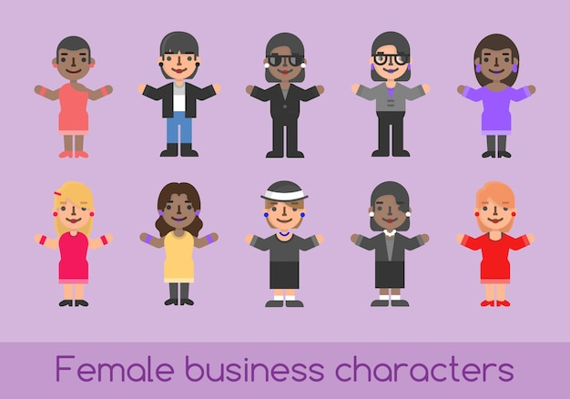 Business characters female