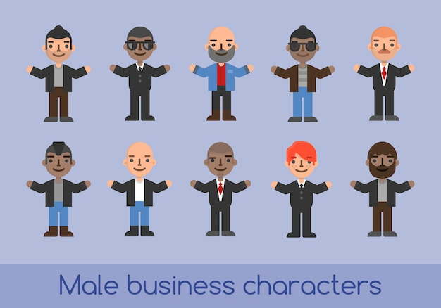 Business characters male