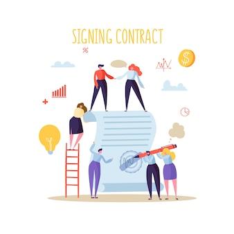 비즈니스 문자 서명 계약
