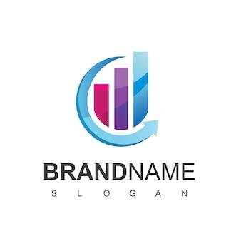 비즈니스 차트 로고 디자인 서식 파일