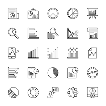 Business charts and diagrams  icons