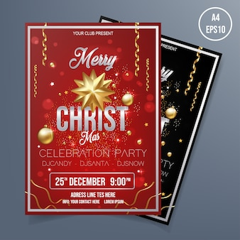 Business christmas flyer template