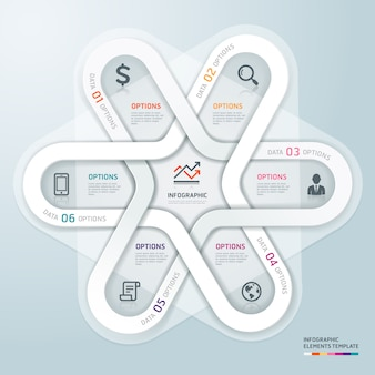 Business circle infographics origami style.