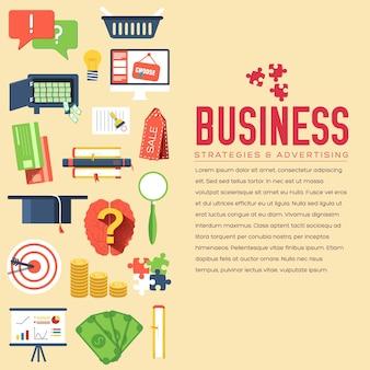 ビジネスサークルのインフォグラフィックテンプレート。製品または、webおよびモバイルアプリケーションのアイコン