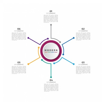 Business circle timeline infographic template