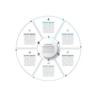 Деловой круг. график инфографики шаблон