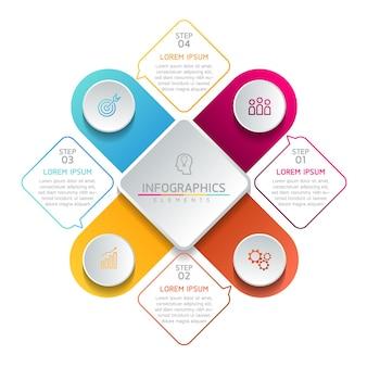 비즈니스 원형 infographic 템플릿 디자인
