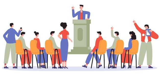 Business coach conduct training or seminar