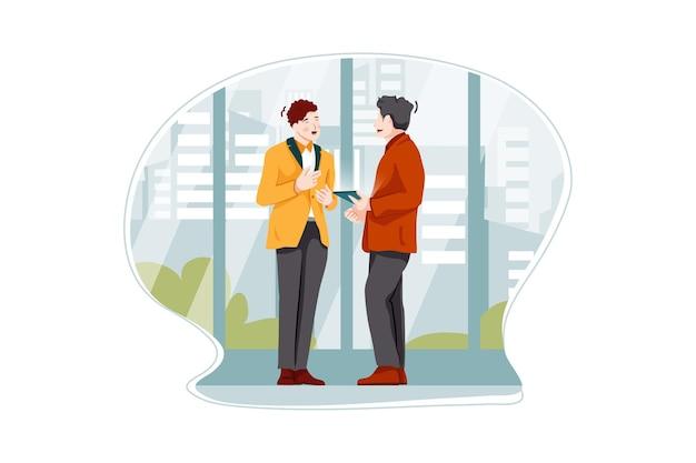 Концепция иллюстрации делового общения