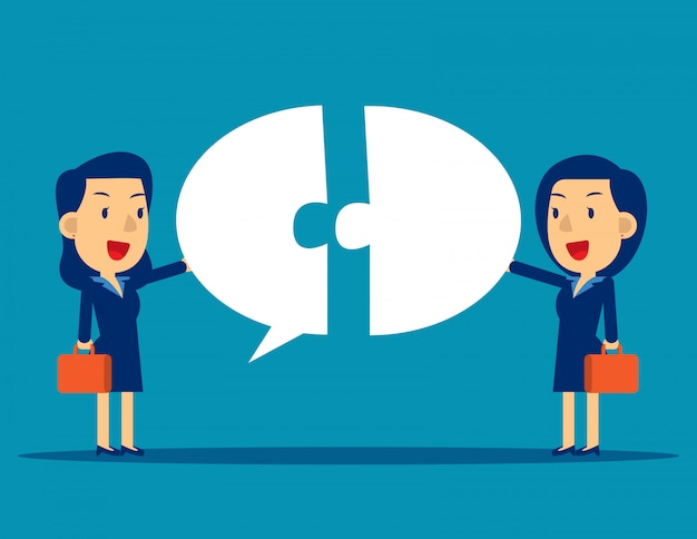 Business communication with speech bubble