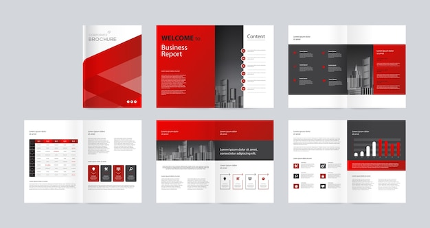 Business company brochure design layout template