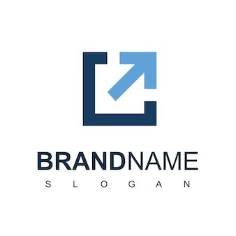 Логотип компании бизнес растет вверх символ стрелки бизнес