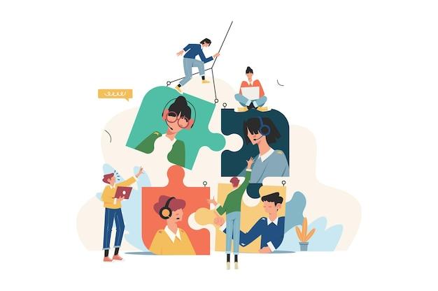 퍼즐의 형태로 직원을 찾는 비즈니스 회사