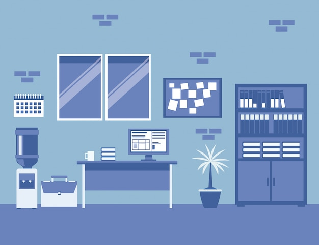 Business company office interior