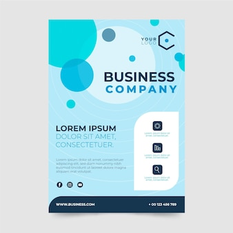 Business company poster design template