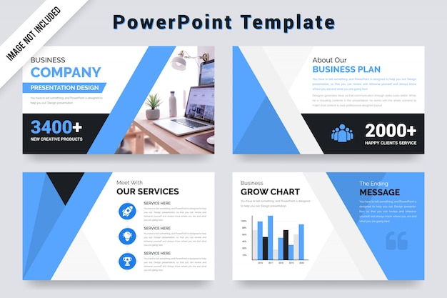 Business company presentation template  with  grow chart.