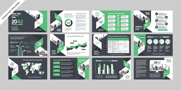 Business company presentation with infographics template.