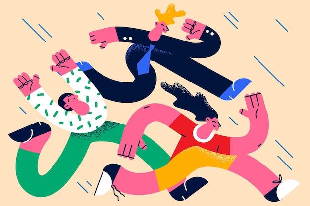 비즈니스 경쟁 및 콘테스트 개념