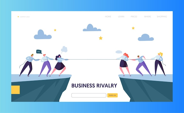 Business competition challenge landing page
