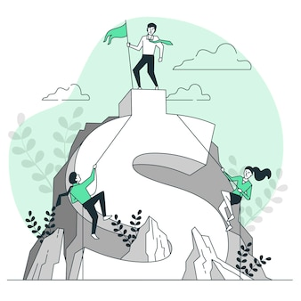 Иллюстрация концепции бизнес-конкуренции