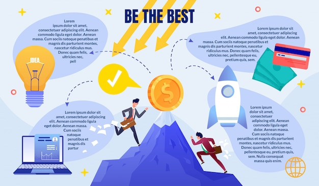 Business competition flat vector infographics