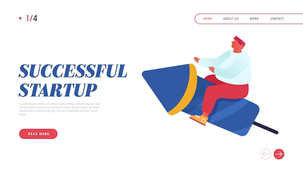 Business competition website landing page.