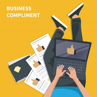 Business compliment concept