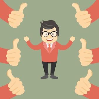 Business compliment concept