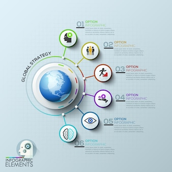 Business computer network. global template.