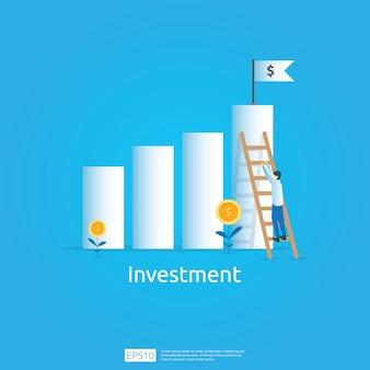Business concept of achievement goal
