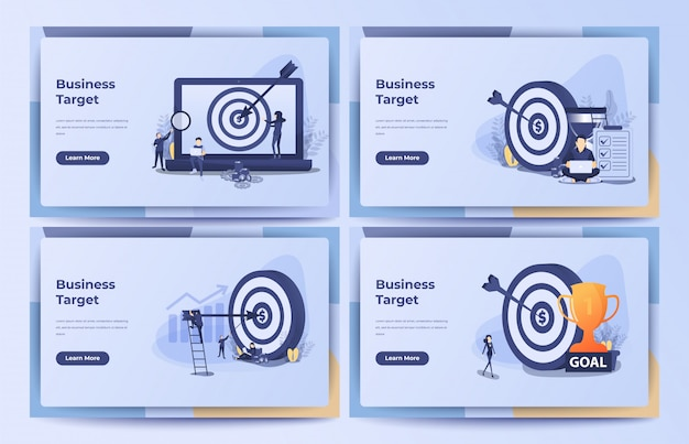 Business concept, business target, goal, achievement with hourglass, pile of coin and money bag.   illustration