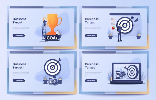 Бизнес-концепция, бизнес-цель, цель, достижение с песочными часами, куча монет и мешок денег. иллюстрация