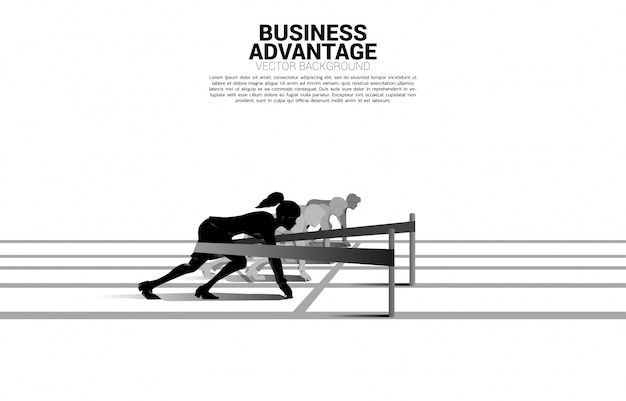 Business concept of competition and business advantage.