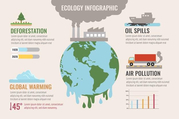 Business concept for ecology infographic