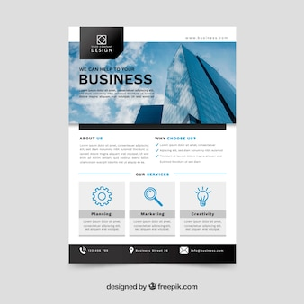 Business concept flyer template