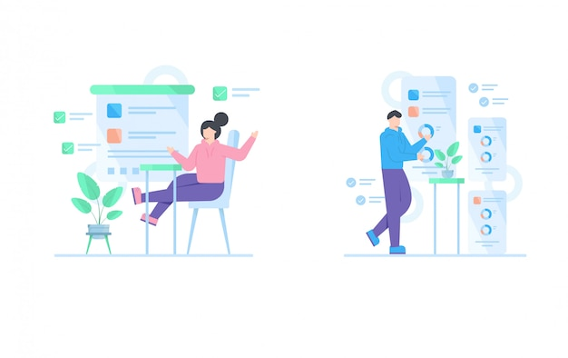 ランディングページテンプレートのビジネス概念図