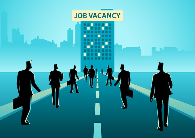 Business concept illustration for job vacancy