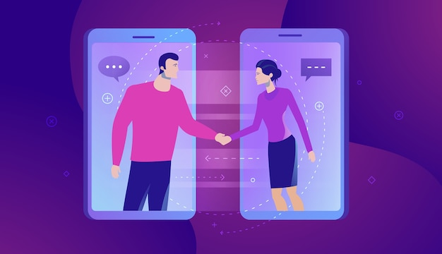Business concept illustration of online communication.
