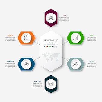 Business concept infographic template with diagram