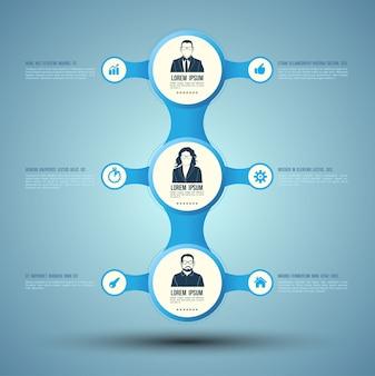 아이콘으로 비즈니스 개념 infographic 템플릿