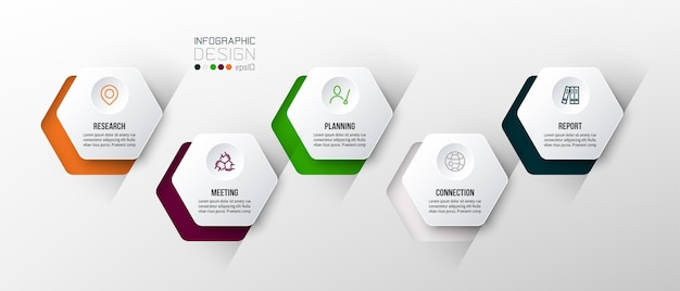 Business concept infographic template with options