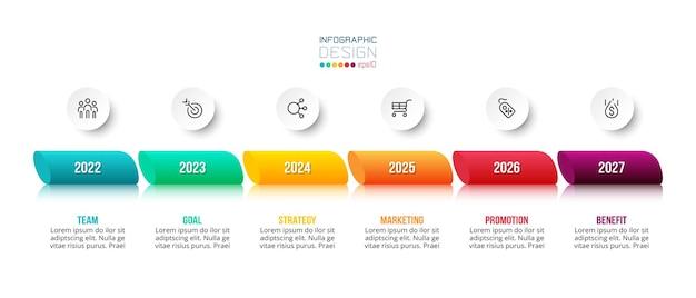 年間オプションとビジネスコンセプトのインフォグラフィックテンプレート